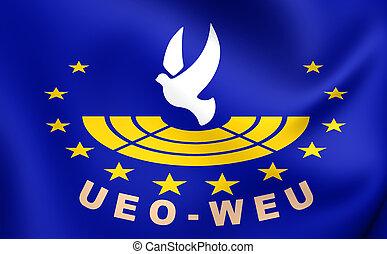 union européenne, montage, drapeau, occidental