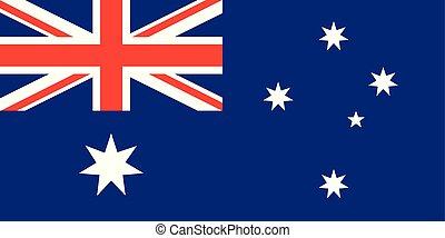 union, flag., vecteur, cric, étoiles, australien