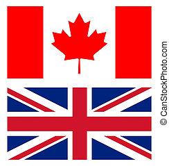 union jack and canadian flag