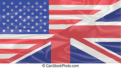 A union of the Stars and Stripes and the Union Jack on silk