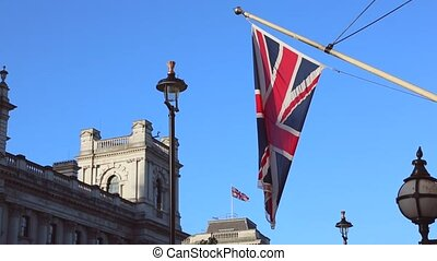Union Jack British Flag at Pole in London