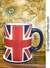 Union jack cup of tea