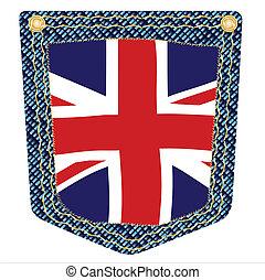 Union Jack Denim Pocket