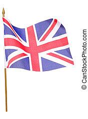 union jack, drapeau, coupure