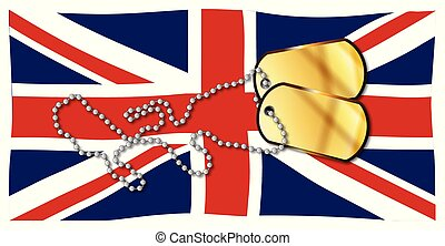 Union Jack Flag And Dog Tag Set
