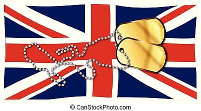 Union Jack Flag And Dog Tag Set