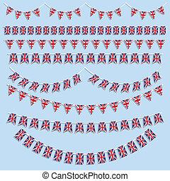 Union Jack Flag decoration - Union Jack flag bunting and...