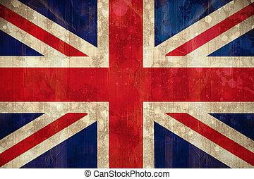 Digitally generated union jack flag in grunge effect