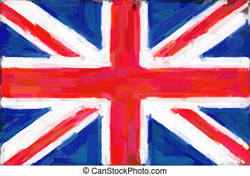 Union Jack Flag Painting