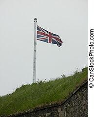 Union Jack Flag - Union Jack flag on fortress wall