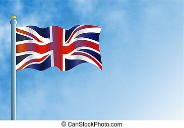 Union Jack - Flying the British flag.