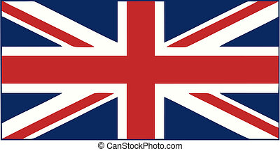 Union Jack isolated vector illustration
