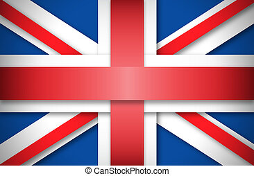Union Jack made with bands