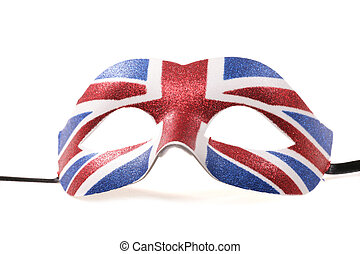 union jack masquerade mask cutout