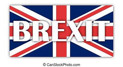Union Jack Shadows Brexit