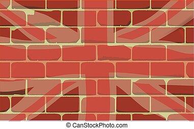 Union Jack Sprayed on a Wall