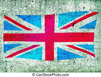 Union Jack UK flag - Grunge illustration of the Union Jack...