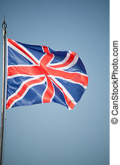 Union Jack - UK flag in the wind