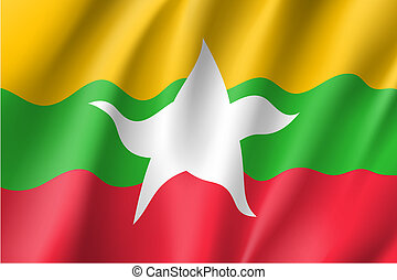 Union of Myanmar or Burma flag