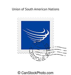 Union of South American Nations Flag Postage Stamp.