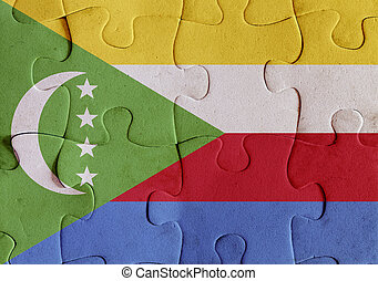 Union of the Comoros flag puzzle