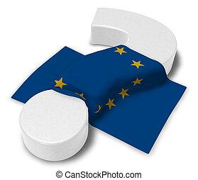 union, -, question, illustration, marque, drapeau, européen, 3d
