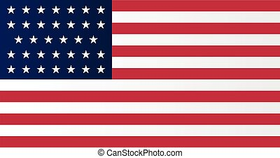 Union Side American Civil War Flag - A Union side civil war ...