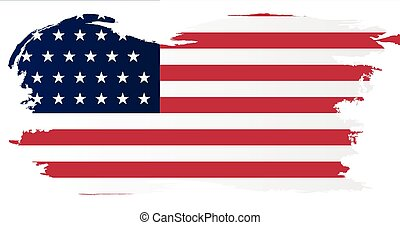 Union Side American Civil War Flag With Grunge Border