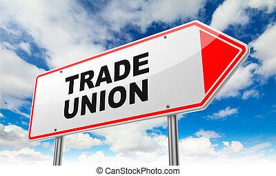 union, signe., route, rouges, commercer