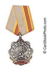 union, soviétique, médaille, gloire, main-d'œuvre