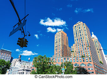 Union Square buildings in New York