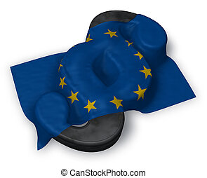 union, symbole, -, rendre, drapeau, paragraphe, européen, 3d