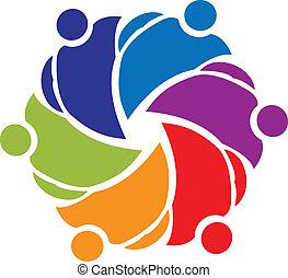 union, vecteur, collaboration, gens, icône