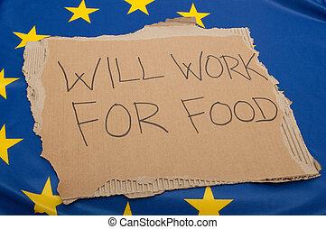 unione, disoccupazione, europeo