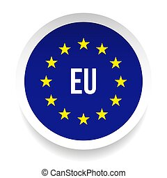 unione, simbolo, -, eu, logotipo, europeo
