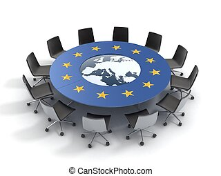 unione, tavola rotonda, europeo
