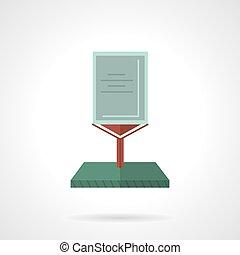 unipole, billboard, apartamento, vetorial, ícone