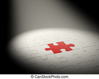 3d puzzles of white and red color