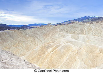 Unique and Fanciful Badlands Formations of Zabriskie Point in Death Valley National park in California, United States Of America