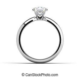 unique, anneau diamant