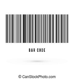 Unique bar code template. Information about product. Vector illustration isolated on white background