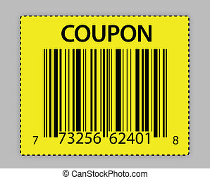unique barcode coupon illustration
