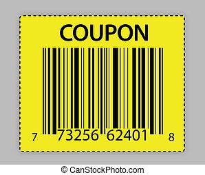 unique barcode coupon illustration