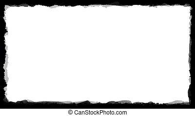 unique black border on white