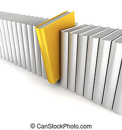 Unique book. 3d illustration on white background