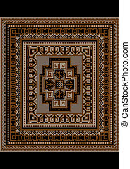 Unique carpet pattern in brown tone - Design for variegated...