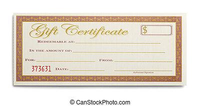 unique, certificat don