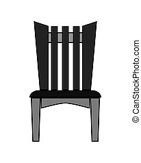 unique, chaise extérieure, icône