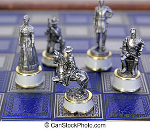 unique chess pieces - old antique civil war character chess...