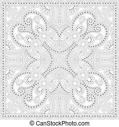 unique coloring book square page for adults - floral authentic c